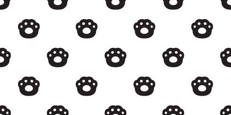 dog paw seamless pattern vector french bulldog cat footprint scarf isolated repeat wallpaper tile background