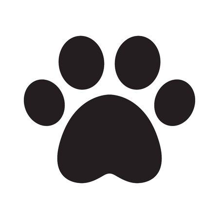 dog paw vector footprint icon french bulldog cat puppy cartoon symbol sign illustration doodle