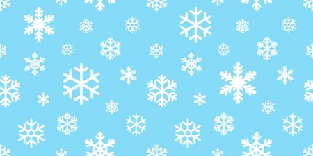 Snowflake seamless pattern vector Christmas snow Xmas Santa Claus scarf isolated wallpaper tile background illustration gift wrapping paper Иллюстрация