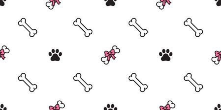 dog bone seamless pattern vector bow tie heart valentine french bulldog scarf isolated tile background wallpaper repeat pink