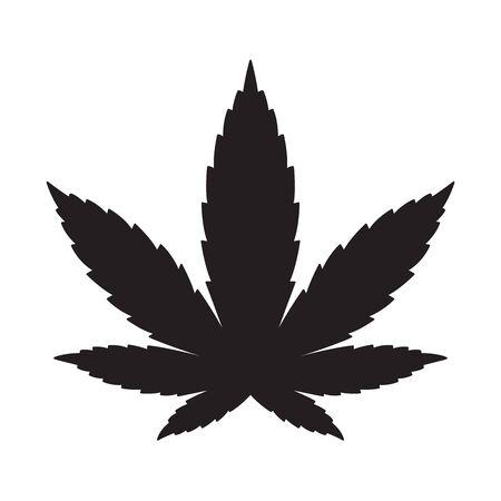 Marijuana vector cannabis leaf weed icon graphic illustration Illustration