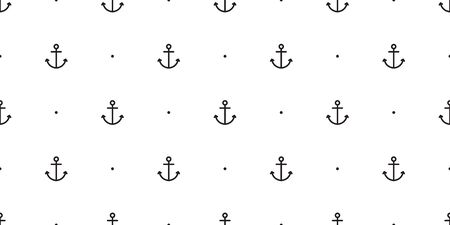 Anchor seamless pattern vector boat pirate helm polka dot scarf isolated maritime sea ocean Nautical repeat wallpaper tile background Çizim