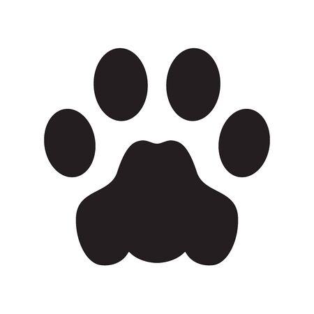 dog paw vector footprint icon french bulldog cat symbol cartoon sign illustration doodle graphic 일러스트