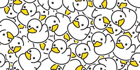 duck seamless pattern vector rubber ducky isolated cartoon illustration bird bath shower repeat wallpaper tile background gift wrap paper white Иллюстрация