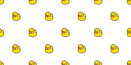 duck seamless pattern vector rubber ducky isolated cartoon illustration bird bath shower repeat wallpaper tile background gift wrap