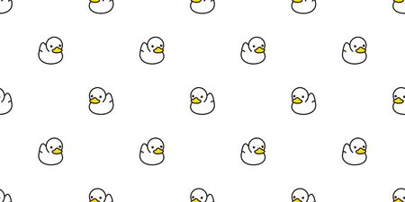 duck seamless pattern vector rubber ducky isolated cartoon illustration bird bath shower repeat wallpaper tile background gift wrap white Illustration