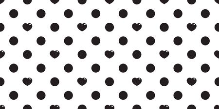 Heart seamless pattern valentine vector polka dot gift wrap paper scarf isolated repeat wallpaper tile background illustration