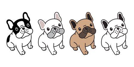 Hund Vektor französische Bulldogge Symbol Charakter Cartoon Welpen Rasse Logo Illustration Doodle Symbol