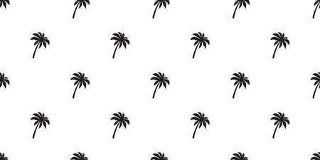 Coconut tree palm Seamless Pattern vector scarf isolated island repeat wallpaper tile background tropical summer illustration
