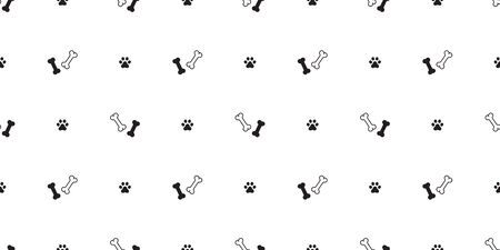dog bone seamless pattern paw vector footprint isolated french bulldog puppy repeat wallpaper tile background Stockfoto - 133834242