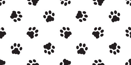 Dog Paw seamless pattern vector footprint isolated french bulldog cartoon scarf repeat wallpaper tile background illustration doodle Stockfoto - 133834270