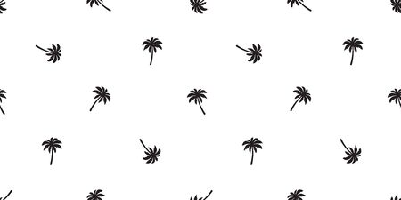 palm coconut tree Seamless Pattern vector scarf isolated island repeat wallpaper tile background tropical summer illustration Stock Illustratie