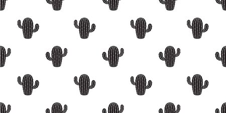 cactus seamless pattern vector Desert flower botanica summer plant garden isolated background repeat wallpaper illustration doodle