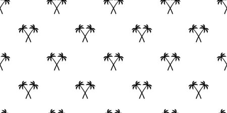 palm tree coconut tree Seamless Pattern vector scarf isolated island repeat wallpaper tile background tropical summer illustration doodle Stock Illustratie