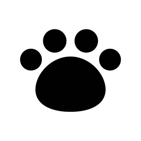 Chien patte vecteur empreinte ours icône logo chat chaton bouledogue français personnage de dessin animé symbole graphique illustration