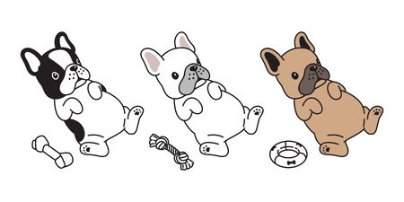 dog vector french bulldog toy icon character cartoon puppy logo illustration doodle
