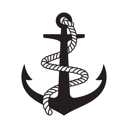 Anchor vector icon logo boat symbol pirate helm Nautical maritime illustration graphic simple design Logo