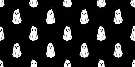 Fantasma senza cuciture vettore Sciarpa spettrale di Halloween isolata ripetizione carta da parati piastrelle sfondo diavolo malvagio fumetto illustrazione carta da regalo carta da parati doodle design
