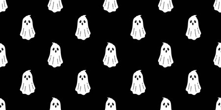 Ghost seamless pattern vector Halloween spooky scarf isolated repeat wallpaper tile background devil evil cartoon illustration gift wrap paper doodle design
