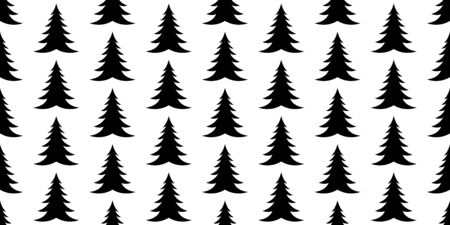 christmas tree seamless pattern vector wood Santa Claus forest scarf isolated cartoon tile wallpaper repeat background illustration design
