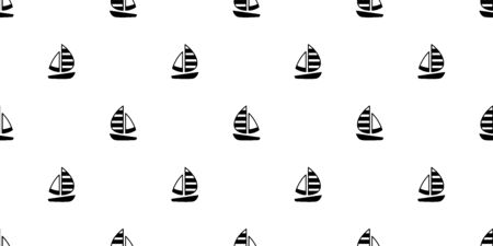 boat seamless pattern vector yacht pirate Anchor helm maritime Nautical sea ocean scarf isolated repeat wallpaper tile background doodle design
