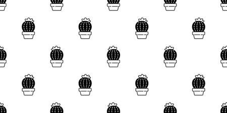 cactus seamless pattern vector Desert botanica flower garden plant summer scarf isolated tile background repeat wallpaper doodle illustration design