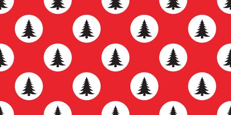 christmas tree seamless pattern vector Santa Claus polka dot wood forest scarf isolated cartoon repeat wallpaper tile background illustration design