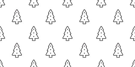 christmas tree seamless pattern vector Santa Claus wood forest biscuit cracker scarf isolated cartoon repeat wallpaper tile background illustration design