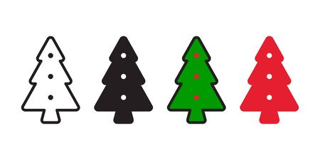 christmas tree vector icon Santa Claus plant wood forest biscuit cracker character cartoon symbol illustration doodle design