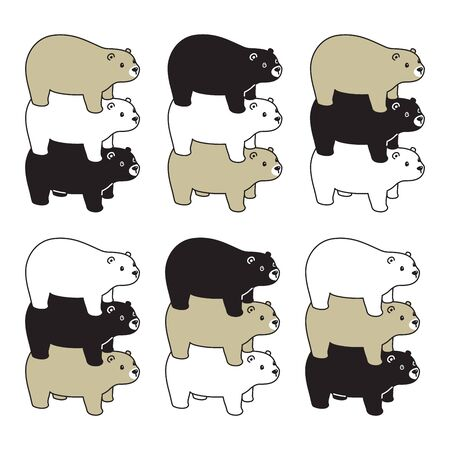 Bear vector polar bear icon acrobat honey cartoon character cartoon symbol logo illustration doodle design
