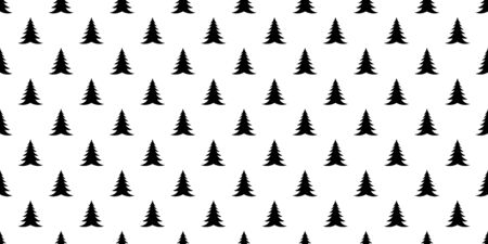 christmas tree seamless pattern vector wood Santa Claus forest scarf isolated cartoon repeat wallpaper tile background illustration design