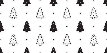 christmas tree seamless pattern vector Santa Claus wood forest biscuit cracker polka dot scarf isolated cartoon repeat wallpaper tile background illustration design