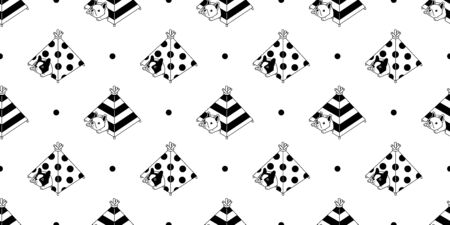 dog seamless pattern french bulldog vector tent house sleeping bone toy cartoon scarf isolated tile background stripes polka dot repeat wallpaper doodle illustration design