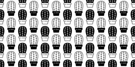 cactus seamless pattern vector Desert botanica flower garden plant scarf isolated repeat wallpaper tile background cartoon doodle illustration design