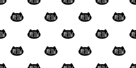 cat seamless pattern kitten vector calico head cartoon scarf isolated repeat wallpaper tile background doodle illustration design