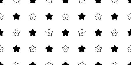 star seamless pattern vector christmas gift wrap paper scarf isolated cartoon tile wallpaper repeat background illustration doodle design Иллюстрация
