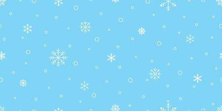 Snowflake seamless pattern Christmas vector snow Xmas Santa Claus scarf isolated repeat wallpaper tile background illustration gift wrapping paper design Stock Illustratie
