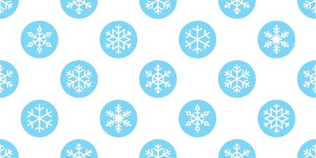 Snowflake seamless pattern vector Christmas snow Xmas Santa Claus scarf isolated polka dot repeat wallpaper tile background illustration gift wrapping paper design