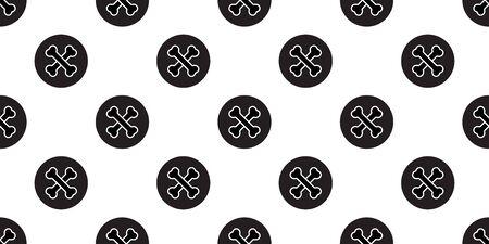 Dog bone seamless pattern crossbones vector french bulldog halloween polka dot cartoon repeat wallpaper scarf isolated tile background illustration doodle design