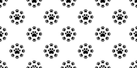 dog paw seamless pattern footprint vector french bulldog icon cartoon scarf isolated repeat wallpaper tile background doodle illustration design