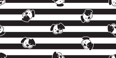 dog seamless pattern french bulldog striped vector cartoon scarf isolated repeat wallpaper tile background doodle illustration design