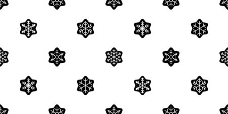 Snowflake seamless pattern Christmas vector snow Xmas Santa Claus star scarf isolated tile background repeat wallpaper illustration gift wrapping paper design