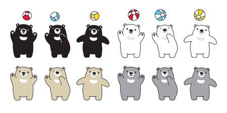 Bear vector polar bear icon cartoon character logo symbol illustration doodle design