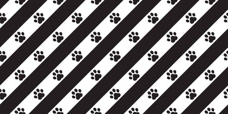 dog paw seamless pattern footprint vector stripes french bulldog icon scarf isolated cartoon repeat wallpaper tile background illustration doodle design Stock Illustratie