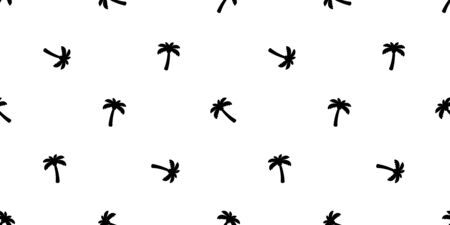 palm tree seamless pattern coconut tree vector island tropical ocean beach summer scarf isolated tile background repeat wallpaper cartoon illustration design Illustration