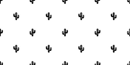 cactus seamless pattern vector Desert botanica flower garden plant scarf isolated repeat wallpaper tile background cartoon illustration doodle white design