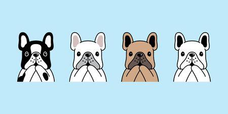 dog vector french bulldog icon pet puppy cartoon character illustration symbol doodle design
