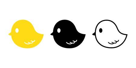 chick duck vector chicken rubber duck bird icon logo cartoon character illustration farm animal doodle design
