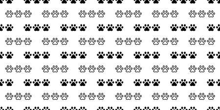 dog paw seamless pattern cat footprint french bulldog claw puppy pet vector cartoon icon repeat wallpaper scarf isolated tile background illustration doodle design 스톡 콘텐츠 - 151534187
