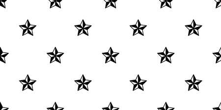 star seamless pattern vector icon christmas scarf isolated gift wrap paper cartoon tile wallpaper repeat background illustration design